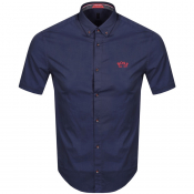 BOSS Biada R Short Sleeved Shirt Navy