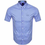 BOSS Biada R Short Sleeved Shirt Blue