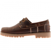Barbour Leather Stern Deck Shoes Brown