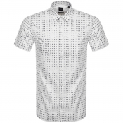 BOSS Magneton Short Sleeve Shirt White