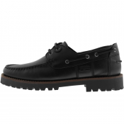 Barbour Leather Stern Deck Shoes Black