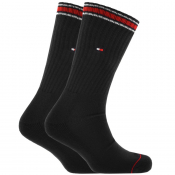 Tommy Hilfiger Two Pack Iconic Socks Black