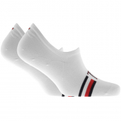 Tommy Hilfiger Two Pack Trainer Socks White