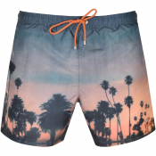 BOSS Springfish Swim Shorts Orange