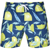BOSS Lemon Shark Swim Shorts Blue