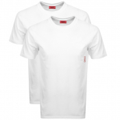 HUGO Double Pack Crew Neck T Shirt White