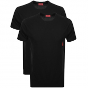 HUGO Double Pack Crew Neck T Shirt Black