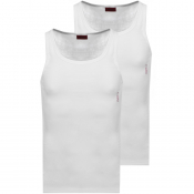 HUGO Double Pack Vest T Shirts White