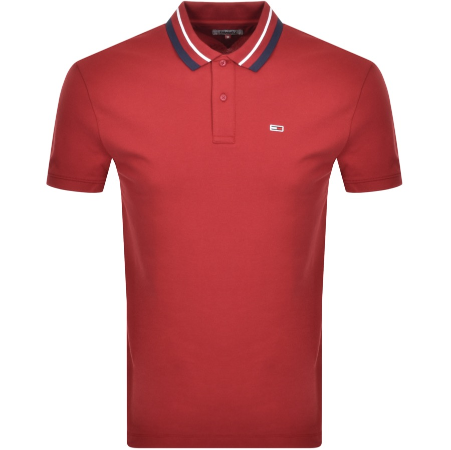 Tommy Jeans Classic Polo T Shirt Red