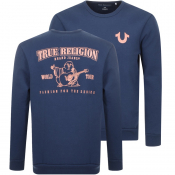 True Religion Crew Neck Sweatshirt Blue