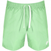 Nike Flow Logo Swim Shorts Green