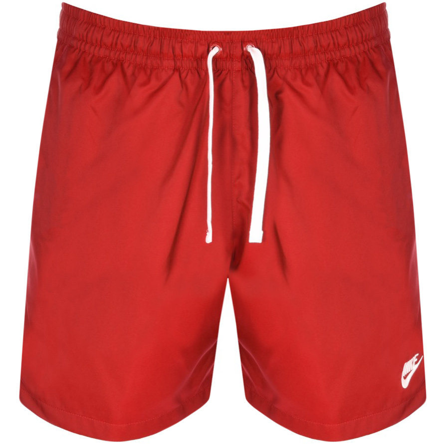 Nike Flow Logo Swim Shorts Red