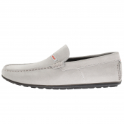 HUGO Dandy Driver Suede Shoes Grey