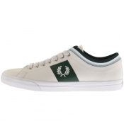 Fred Perry Underspin Tipped Cuff Trainers Cream
