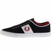 Fred Perry Underspin Tipped Cuff Trainers Navy