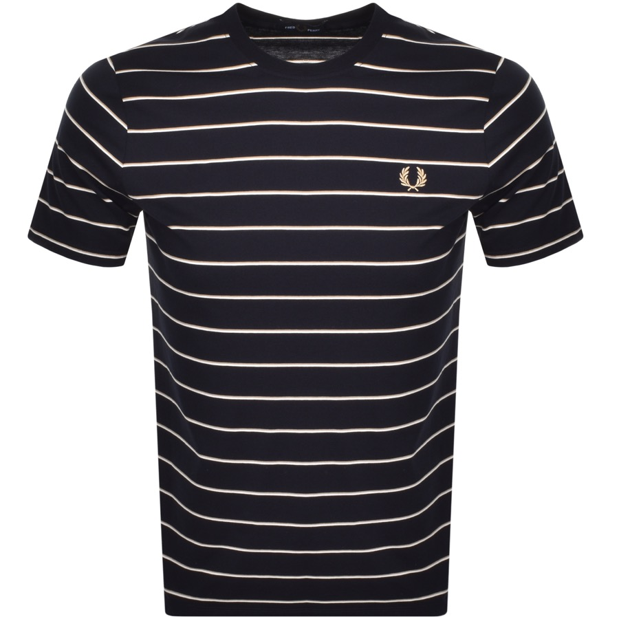 Fred Perry Fine Stripe T Shirt Navy