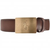Ralph Lauren Plaque Casual Belt Brown