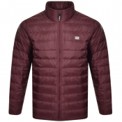 Levis Quilted Down Jacket Burgundy