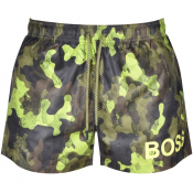 BOSS Camoushark Swim Shorts Green