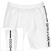 BOSS Dolphin Swim Shorts White
