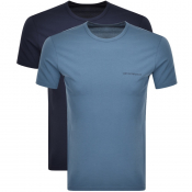 Emporio Armani Lounge 2 Pack T Shirts Navy
