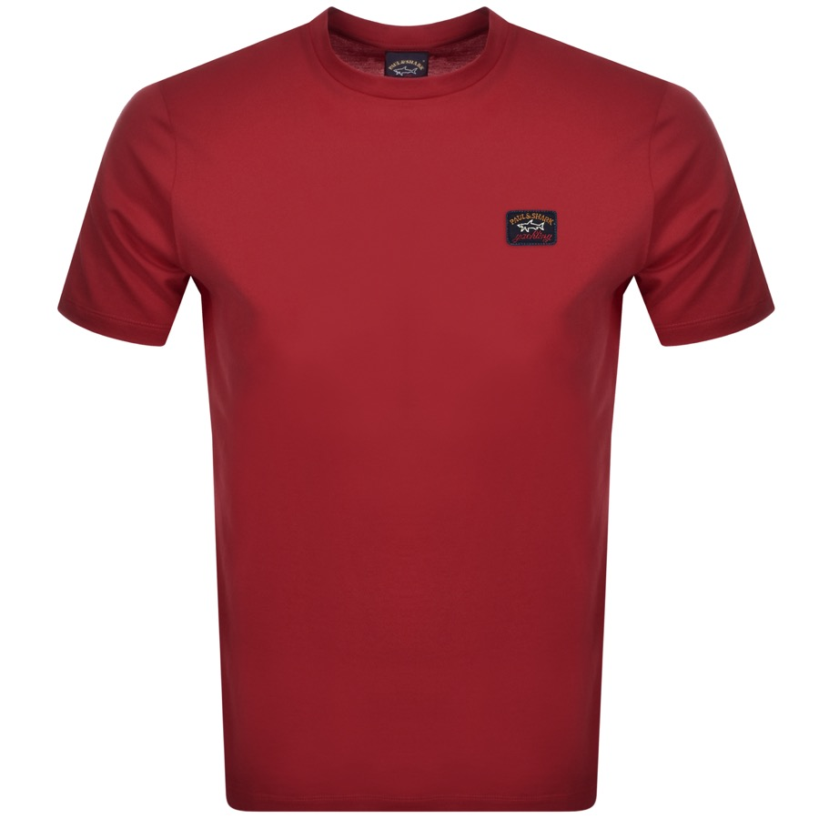 Paul And Shark Short Sleeved Logo T Shirt Burgundy