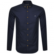 Vivienne Westwood Krall Long Sleeved Shirt Navy