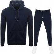 Emporio Armani Full Zip Hooded Tracksuit Navy