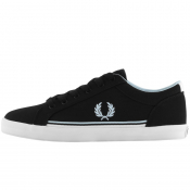 Fred Perry Baseline Twill Trainers Black