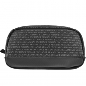 Armani Exchange Logo Wash Bag Black