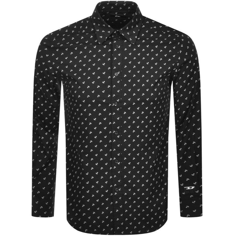 Diesel S Riley Long Sleeved Shirt Black