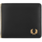 Fred Perry Flat Knit Tipped Billfold Wallet Black