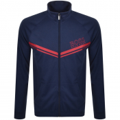 BOSS Bodywear Full Zip Sweatshirt Blue
