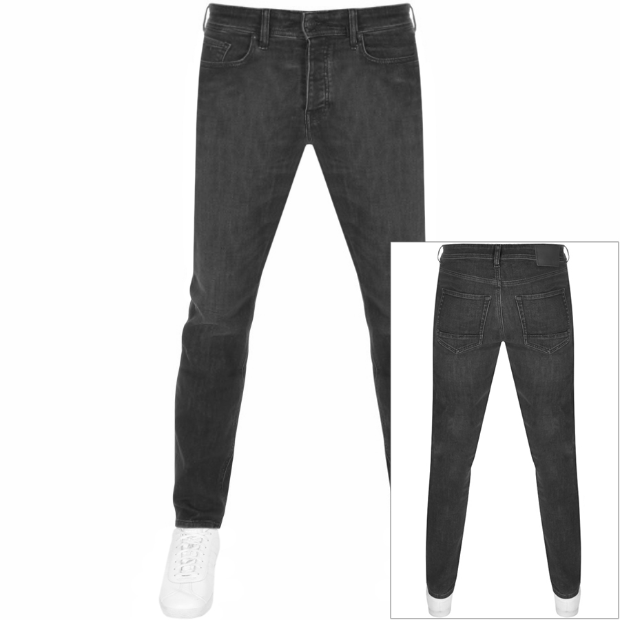 BOSS Taber Tapered Fit Jeans Black