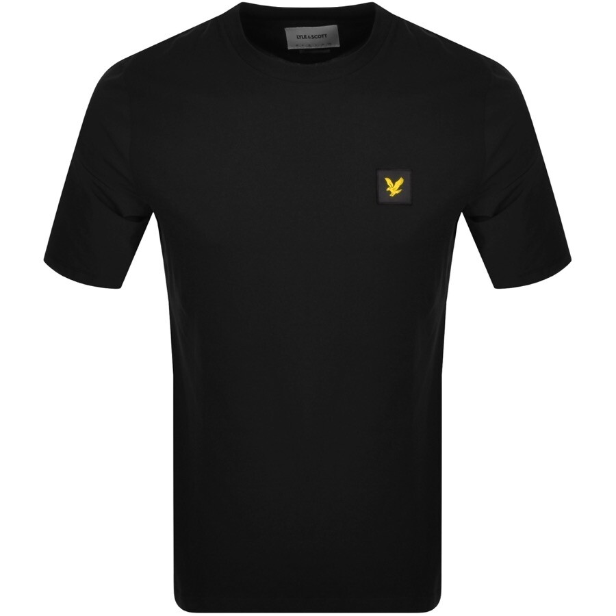 Lyle And Scott Contrast Sleeve T Shirt Black