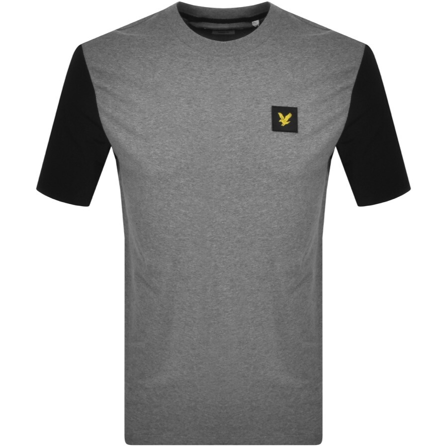 Lyle And Scott Contrast Sleeve T Shirt Grey