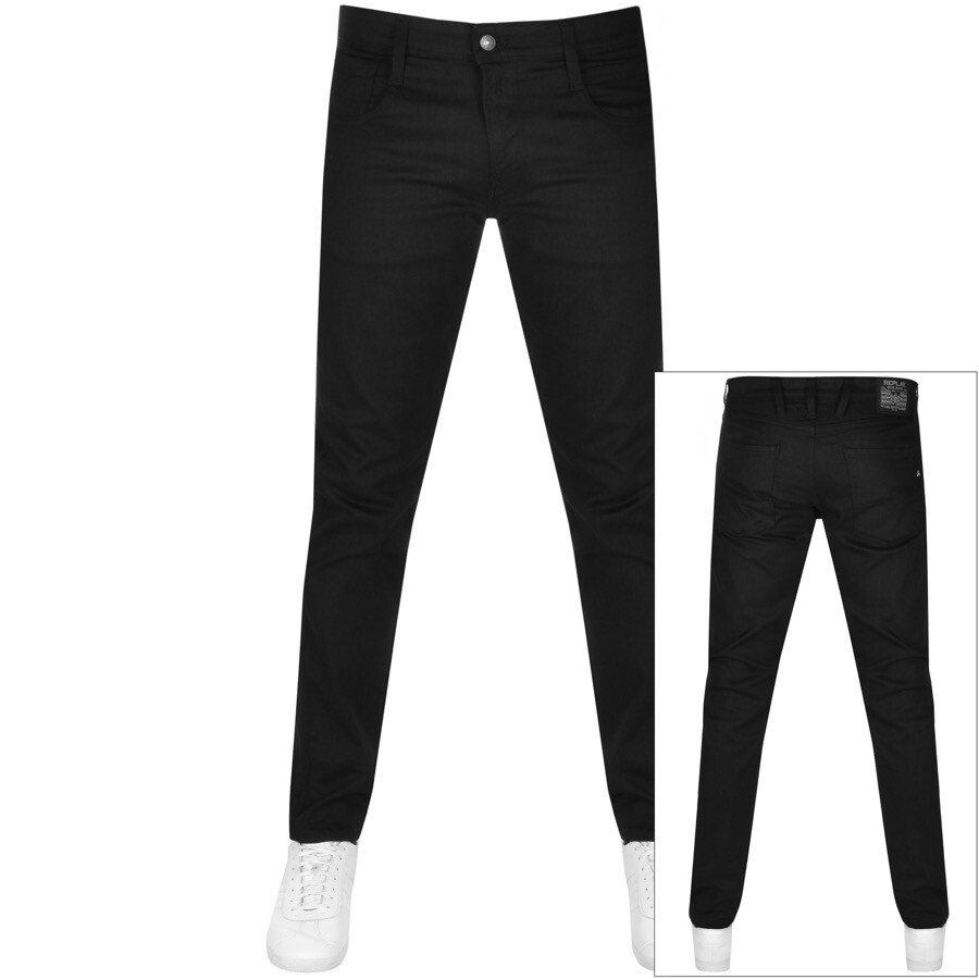 Replay Anbass Power Stretch Jeans Black