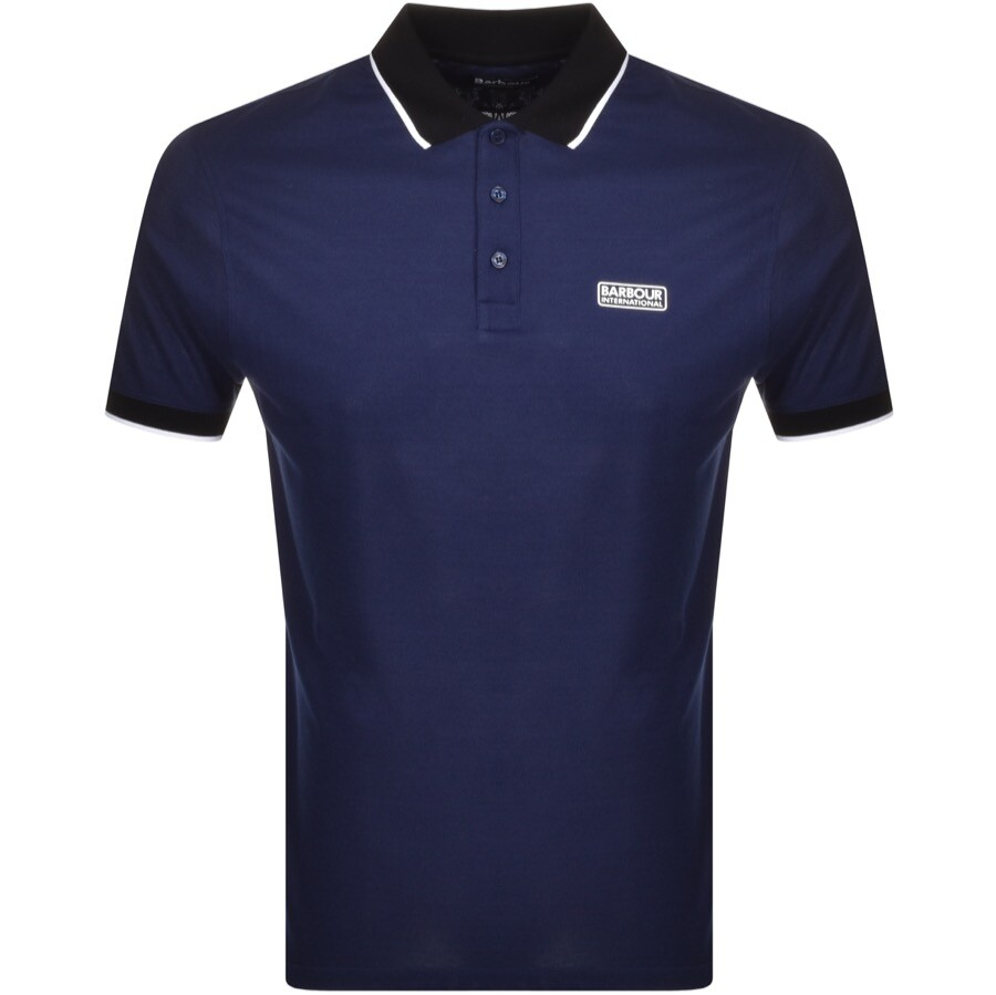 Barbour International Polo T Shirt Navy