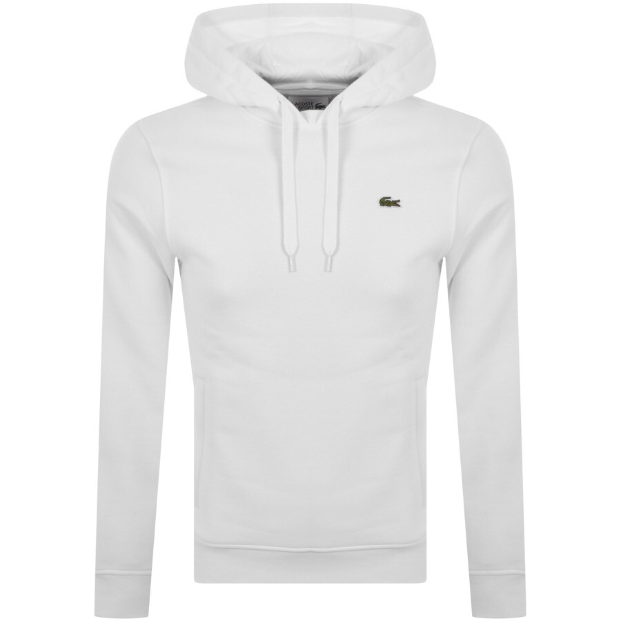 Lacoste Sport Logo Pullover Hoodie White