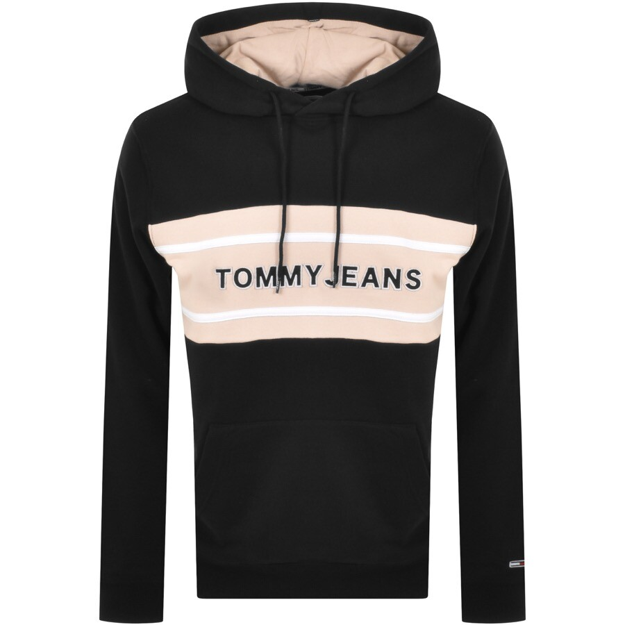 Tommy Jeans Band Logo Pullover Hoodie Black