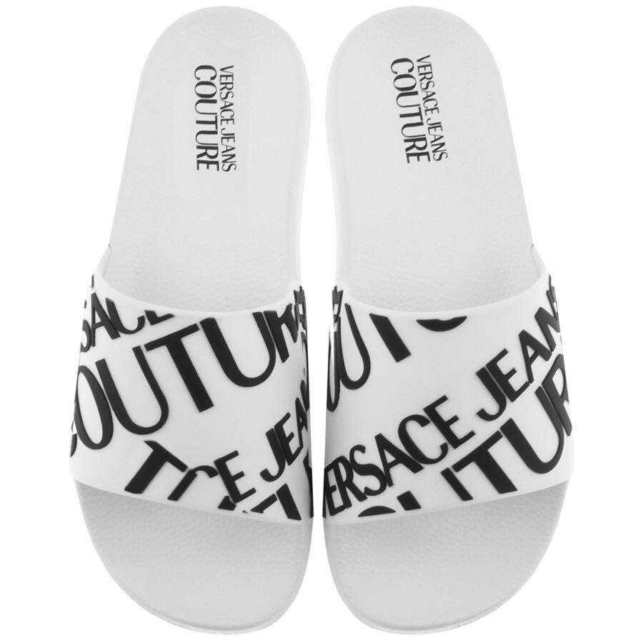 Versace Jeans Couture Logo Sliders White
