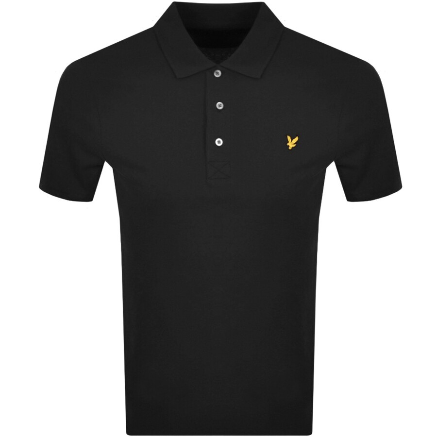 Lyle And Scott Short Sleeved Polo T Shirt Black