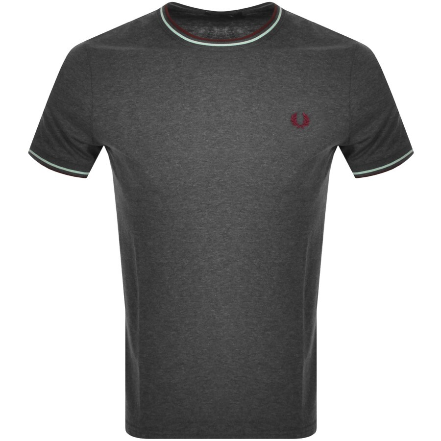 Fred Perry Twin Tipped T Shirt Grey