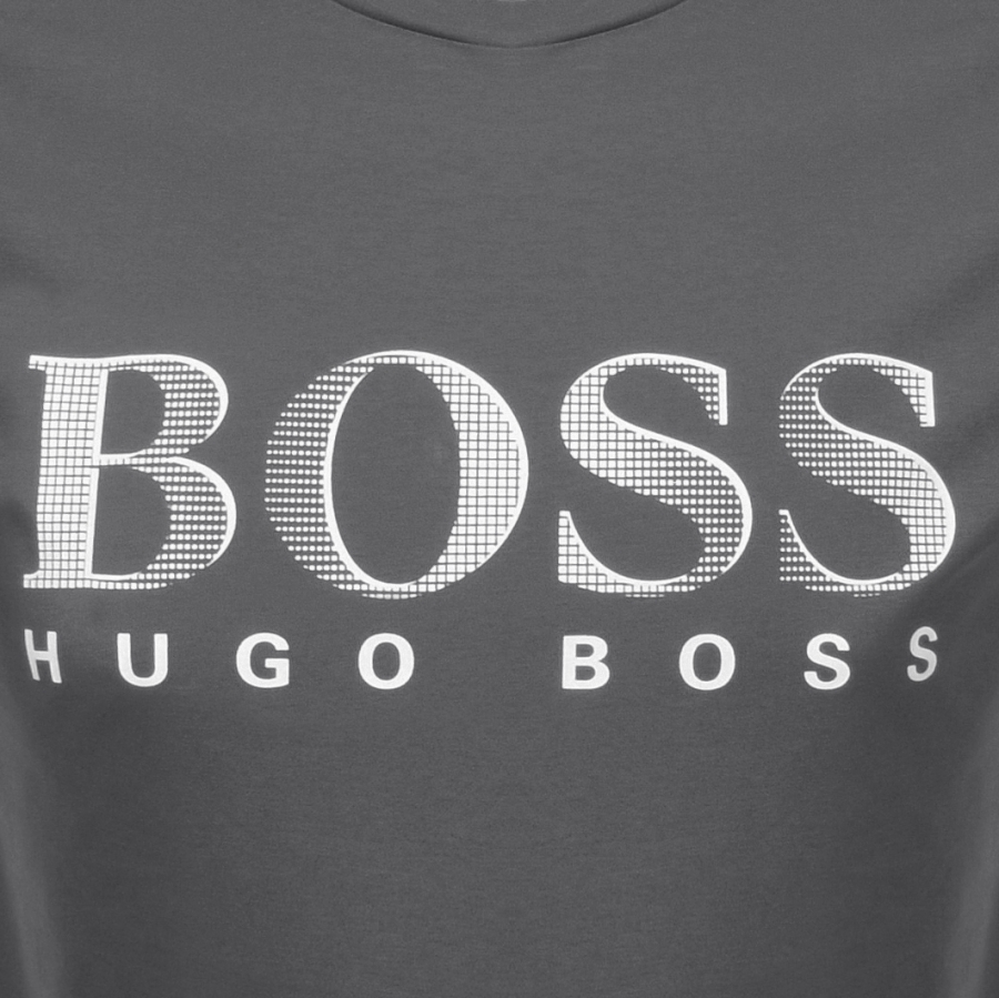 84a2a2f9b9b ... Alternative Image for ProductBOSS HUGO BOSS UV Protection Logo T Shirt  Grey3