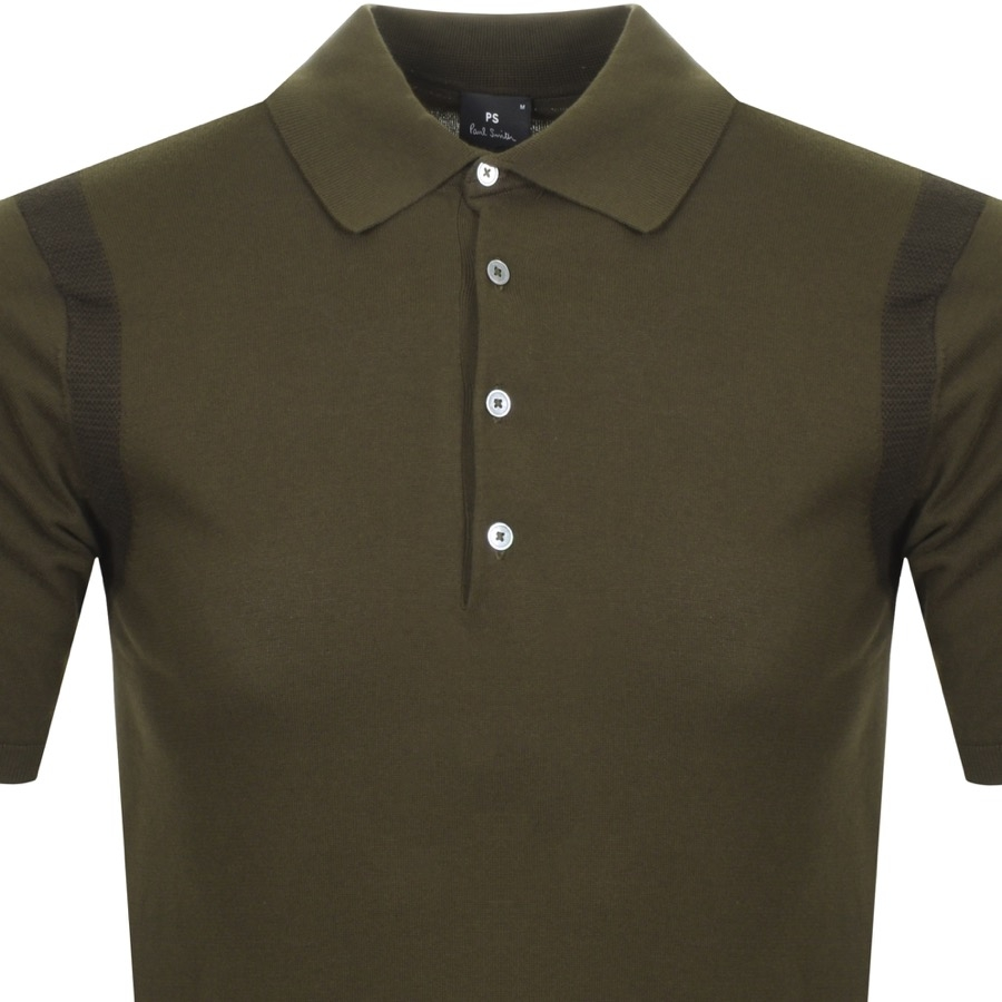 0a7fc84e ... Green1 Alternative Image for ProductPS By Paul Smith Knitted Polo T  Shirt Green2 ...