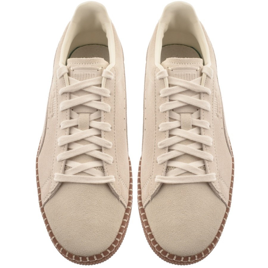 04090a5f793 ... Alternative Image for ProductPuma Suede Classic Blanket Stitch Trainers  Beige3