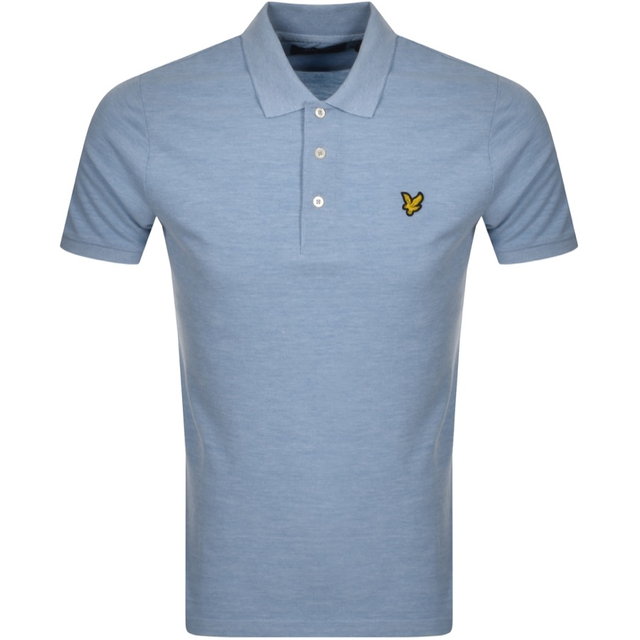 Lyle And Scott Short Sleeved Polo T Shirt Blue
