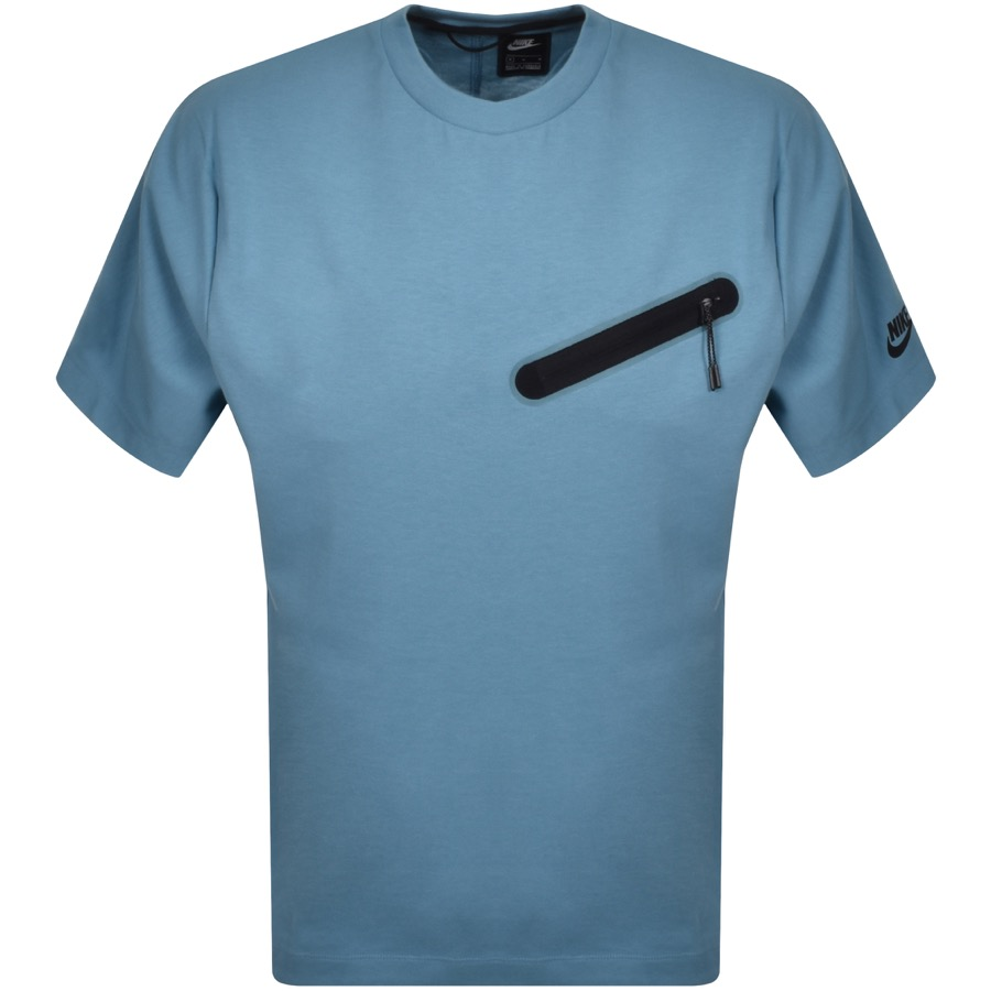 Nike Crew Neck Logo T Shirt Blue