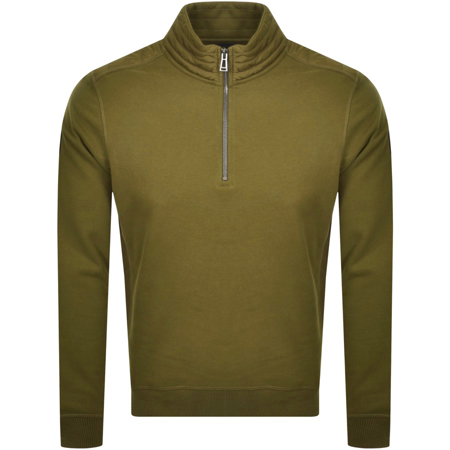 Belstaff Jaxon Quarter Zip In Green