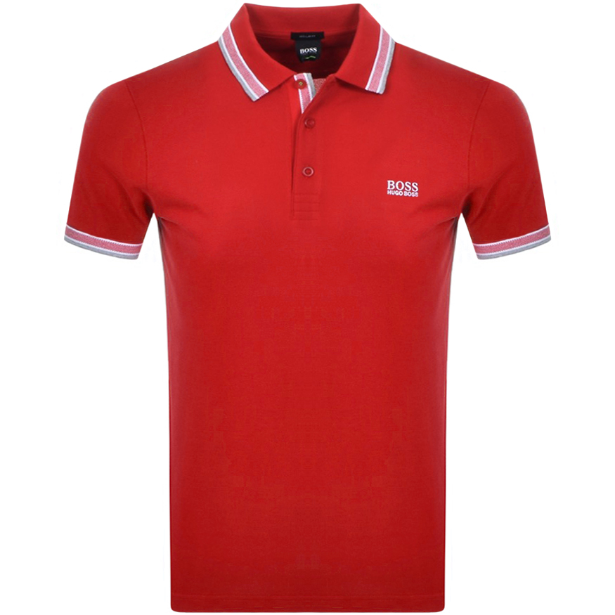 BOSS Paddy Polo T Shirt Red